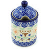 6-inch Stoneware Jar with Lid with Opening - Polmedia Polish Pottery H8199H