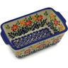6-inch Stoneware Rectangular Baker with Handles - Polmedia Polish Pottery H2436K