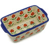 6-inch Stoneware Rectangular Baker with Handles - Polmedia Polish Pottery H2568K