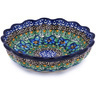 6-inch Stoneware Scalloped Fluted Bowl - Polmedia Polish Pottery H6313G