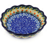 6-inch Stoneware Scalloped Fluted Bowl - Polmedia Polish Pottery H7711E