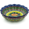 6-inch Stoneware Scalloped Fluted Bowl - Polmedia Polish Pottery H9326I