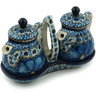 6-inch Stoneware Seasoning Set - Polmedia Polish Pottery H2831C