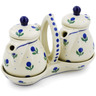 6-inch Stoneware Seasoning Set - Polmedia Polish Pottery H5092B