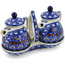 6-inch Stoneware Seasoning Set - Polmedia Polish Pottery H5996B