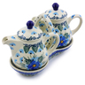 6-inch Stoneware Seasoning Set - Polmedia Polish Pottery H6965I