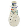 6-inch Stoneware Snowman Candle Holder - Polmedia Polish Pottery H0206K