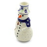 6-inch Stoneware Snowman Candle Holder - Polmedia Polish Pottery H4315J