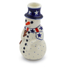 6-inch Stoneware Snowman Candle Holder - Polmedia Polish Pottery H4424J