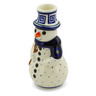 6-inch Stoneware Snowman Candle Holder - Polmedia Polish Pottery H4455J
