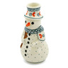 6-inch Stoneware Snowman Candle Holder - Polmedia Polish Pottery H4590J