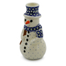 6-inch Stoneware Snowman Candle Holder - Polmedia Polish Pottery H5391D