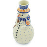 6-inch Stoneware Snowman Candle Holder - Polmedia Polish Pottery H6866H