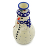 6-inch Stoneware Snowman Candle Holder - Polmedia Polish Pottery H6868H
