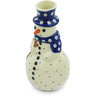 6-inch Stoneware Snowman Candle Holder - Polmedia Polish Pottery H6874H