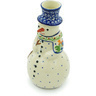 6-inch Stoneware Snowman Candle Holder - Polmedia Polish Pottery H8389H