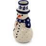 6-inch Stoneware Snowman Candle Holder - Polmedia Polish Pottery H9484C