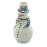 6-inch Stoneware Snowman Candle Holder - Polmedia Polish Pottery H9716H
