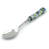 6-inch Stoneware Stainless Steel Spoon - Polmedia Polish Pottery H4478I