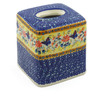 6-inch Stoneware Tissue Box Cover - Polmedia Polish Pottery H2194K