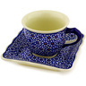 6 oz Stoneware Cup with Saucer - Polmedia Polish Pottery H0617D