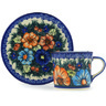 6 oz Stoneware Cup with Saucer - Polmedia Polish Pottery H1285H
