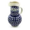 61 oz Stoneware Pitcher - Polmedia Polish Pottery H6292J