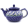 61 oz Stoneware Tea or Coffee Pot - Polmedia Polish Pottery H1212J