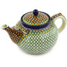 61 oz Stoneware Tea or Coffee Pot - Polmedia Polish Pottery H3756G