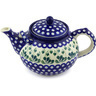 61 oz Stoneware Tea or Coffee Pot - Polmedia Polish Pottery H4287G