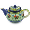 61 oz Stoneware Tea or Coffee Pot - Polmedia Polish Pottery H8358G