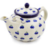 61 oz Stoneware Tea or Coffee Pot - Polmedia Polish Pottery H8472A