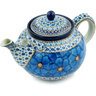 61 oz Stoneware Tea or Coffee Pot - Polmedia Polish Pottery H8732H
