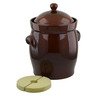 625 oz Stoneware Fermenting Crock Pot with Weight - Polmedia Polish Pottery H2651I