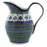 64 oz Stoneware Pitcher - Polmedia Polish Pottery H0474F