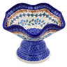7-inch Stoneware Bowl with Pedestal - Polmedia Polish Pottery H0235K
