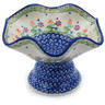 7-inch Stoneware Bowl with Pedestal - Polmedia Polish Pottery H0404C