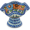 7-inch Stoneware Bowl with Pedestal - Polmedia Polish Pottery H0673H