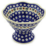7-inch Stoneware Bowl with Pedestal - Polmedia Polish Pottery H0738H