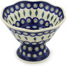 7-inch Stoneware Bowl with Pedestal - Polmedia Polish Pottery H0781H