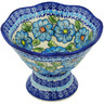 7-inch Stoneware Bowl with Pedestal - Polmedia Polish Pottery H1284H