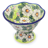 7-inch Stoneware Bowl with Pedestal - Polmedia Polish Pottery H2697J