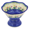 7-inch Stoneware Bowl with Pedestal - Polmedia Polish Pottery H3747E