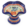 7-inch Stoneware Bowl with Pedestal - Polmedia Polish Pottery H5044F