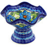 7-inch Stoneware Bowl with Pedestal - Polmedia Polish Pottery H6331F