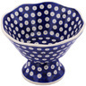 7-inch Stoneware Bowl with Pedestal - Polmedia Polish Pottery H7831G