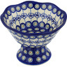 7-inch Stoneware Bowl with Pedestal - Polmedia Polish Pottery H8122G
