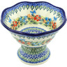 7-inch Stoneware Bowl with Pedestal - Polmedia Polish Pottery H8229H