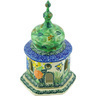 7-inch Stoneware Chapel Candle Holder - Polmedia Polish Pottery H3701G