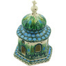 7-inch Stoneware Chapel Candle Holder - Polmedia Polish Pottery H3746G
